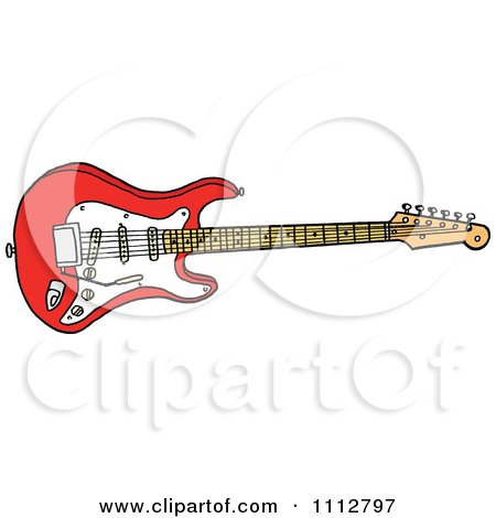 Clipart Fiesta Red Fender Stratocaster Electric Guitar.