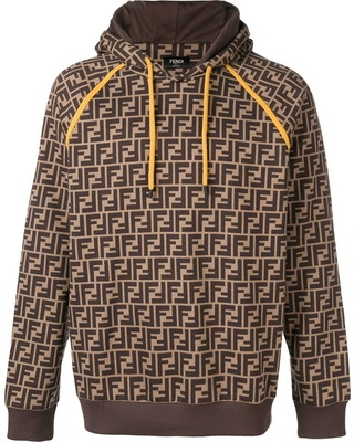 Fendi Fendi printed FF logo hoodie.