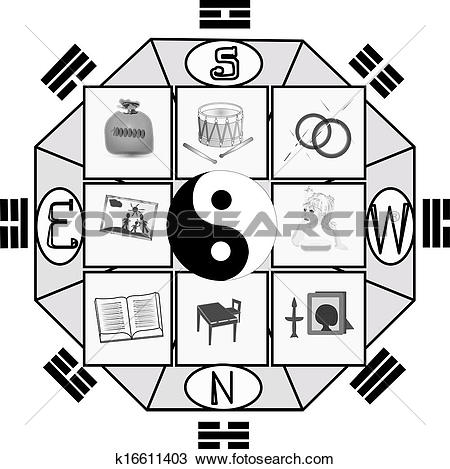 Clipart of harmony Feng Shui k16611403.