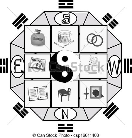 Vector Clipart of harmony Feng Shui.