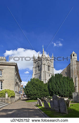 Stock Photo of England, Cambridgeshire, Wisbech. The church of St.