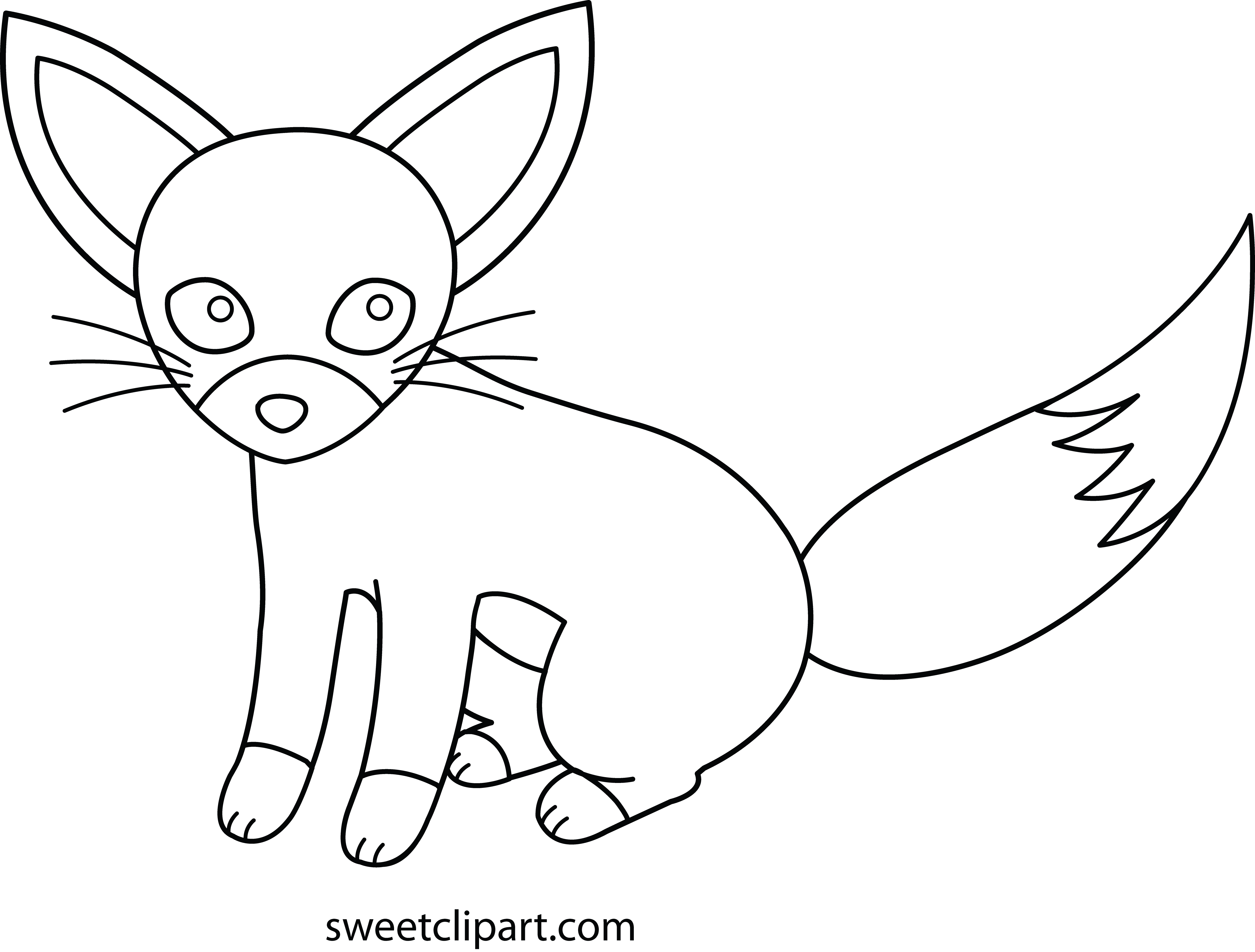Fennec Fox Coloring Page.