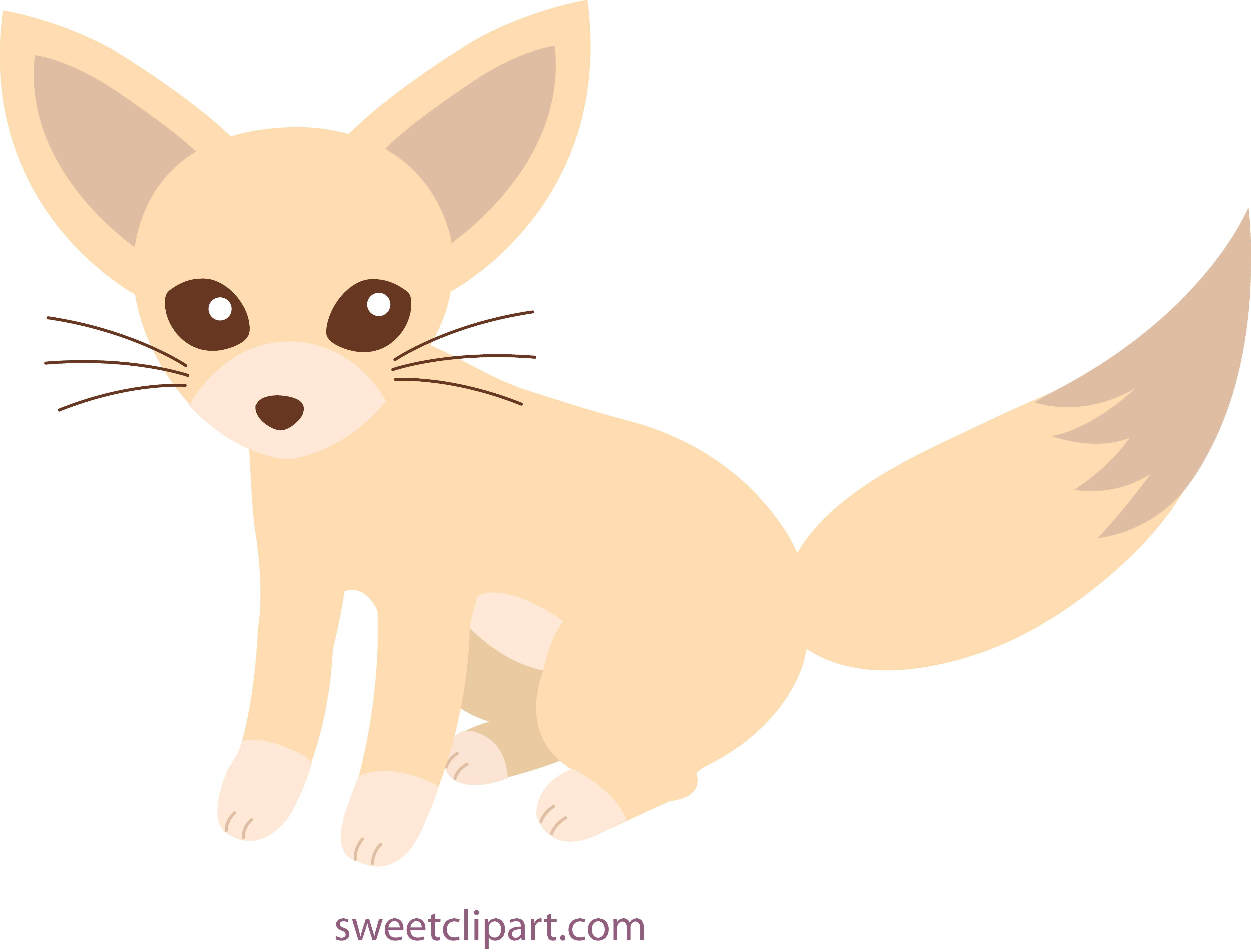 Cute Fennec Fox Clip Art.