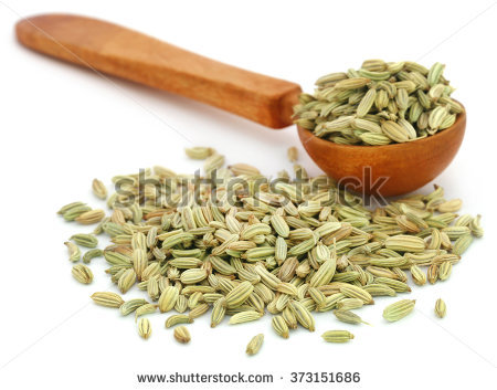 Fennel Seeds Isolated Stock Photos, Royalty.