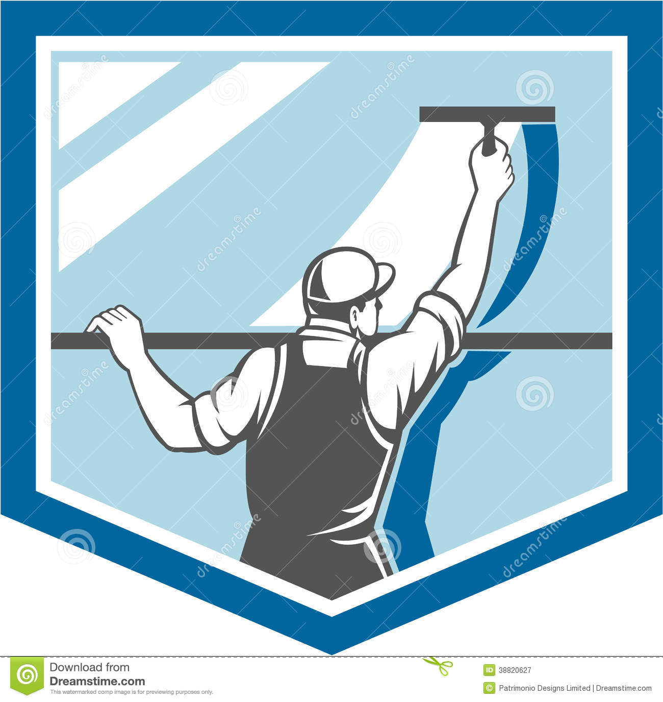 Squeegee Stock Illustrations.