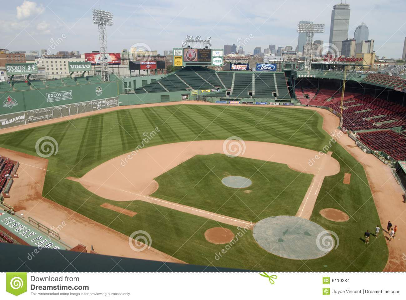 Boston Skyline And Fenway Park Editorial Stock Image.