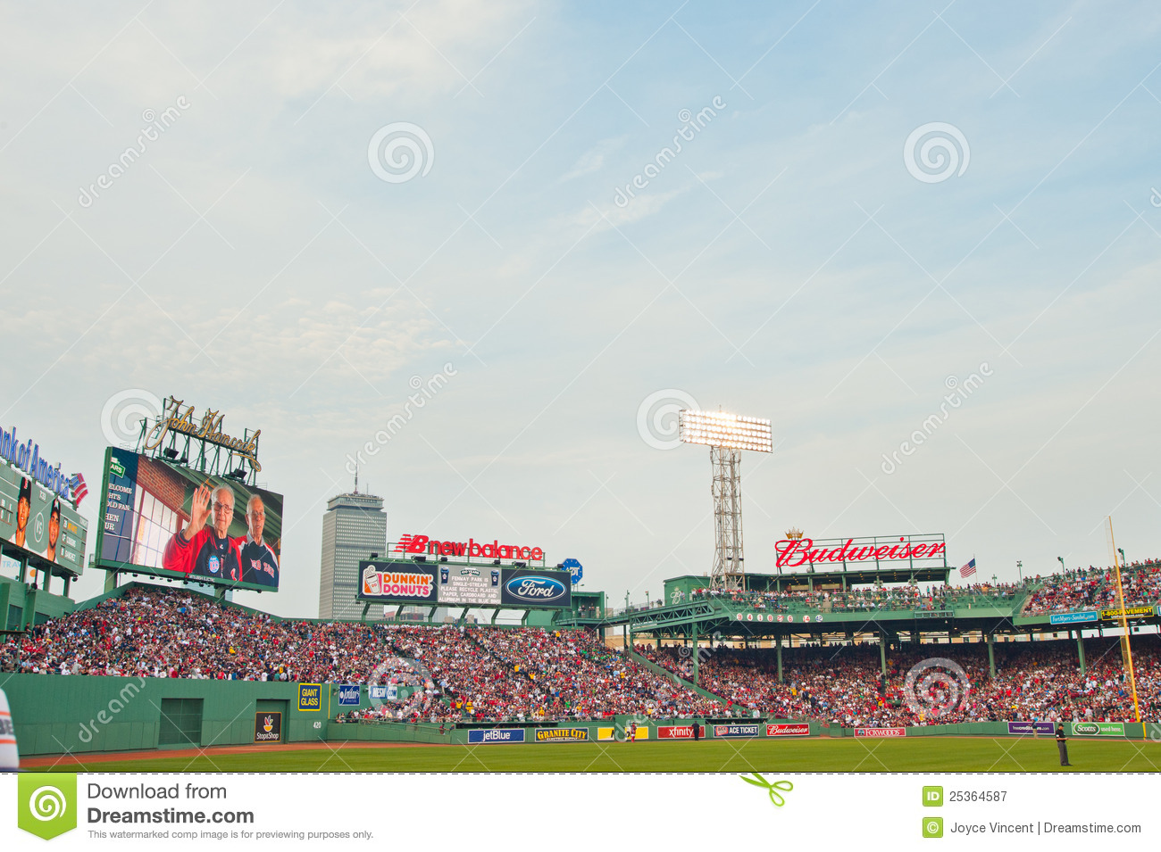 100 Year Old Historic Fenway Park Editorial Photography.