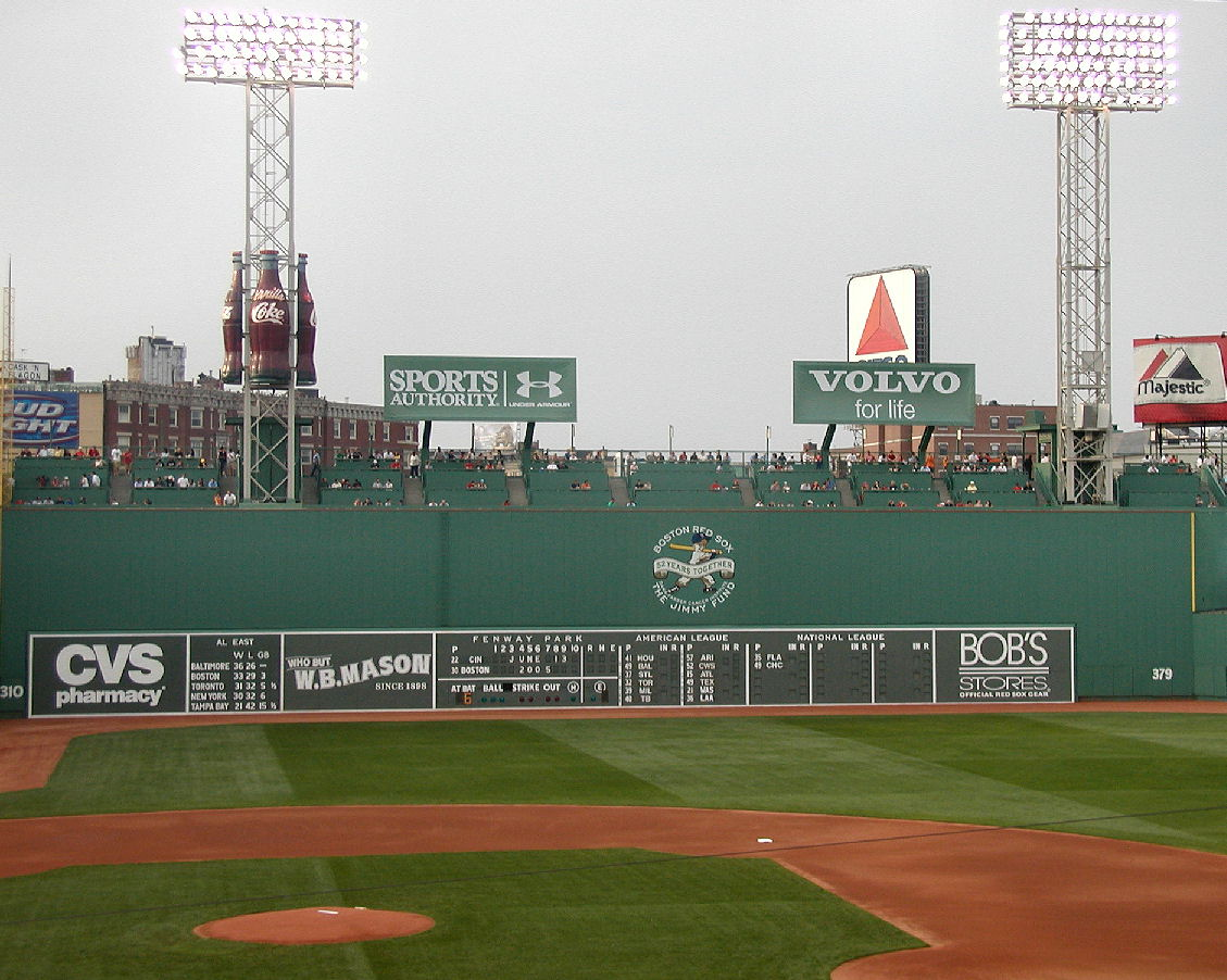 Fenway park green monster clipart.