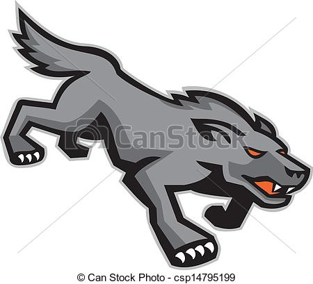 Feral dog clipart.