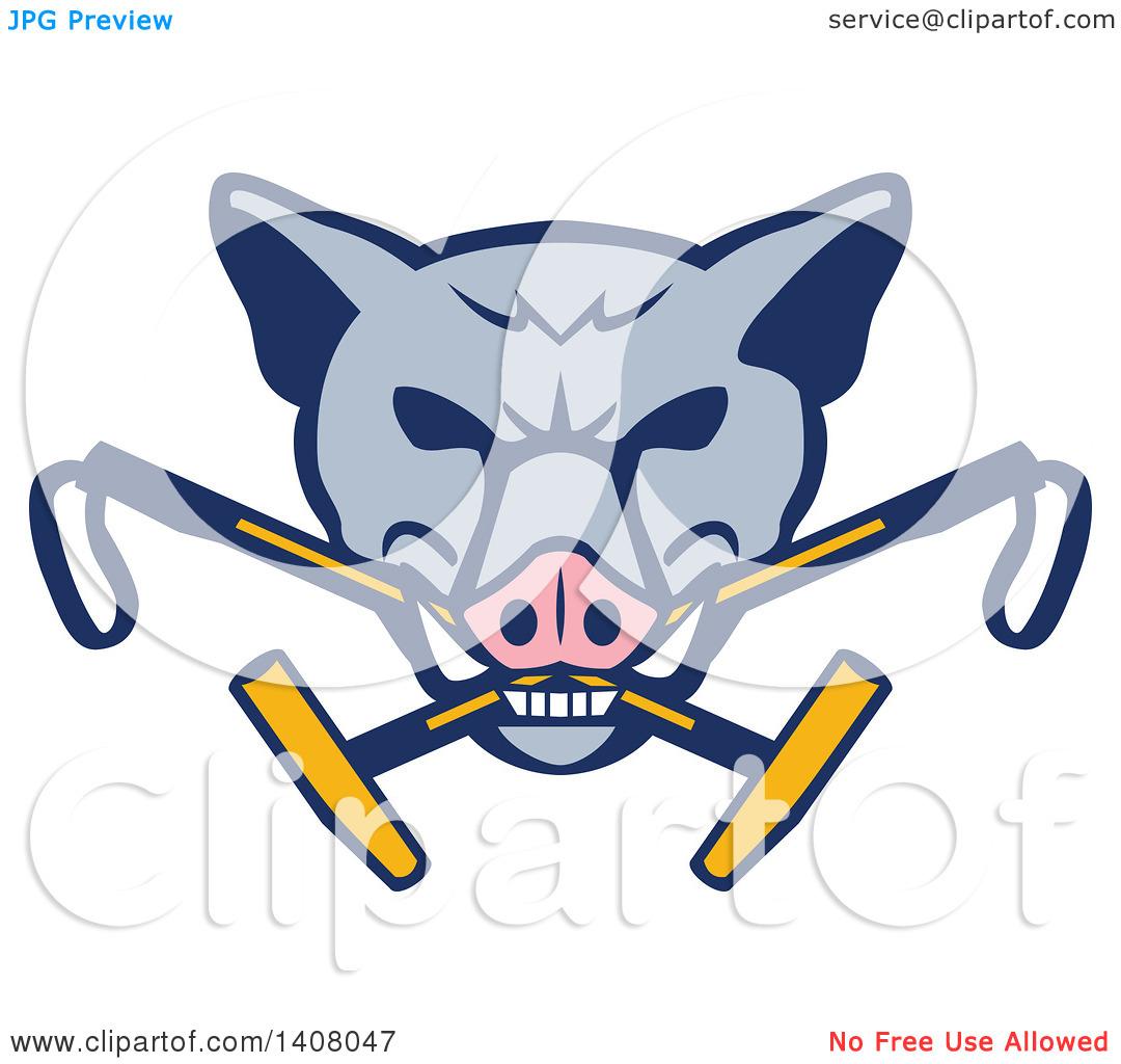 Feral hog mouth clipart.