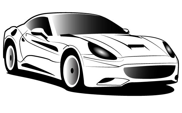 Ferrari clip art.