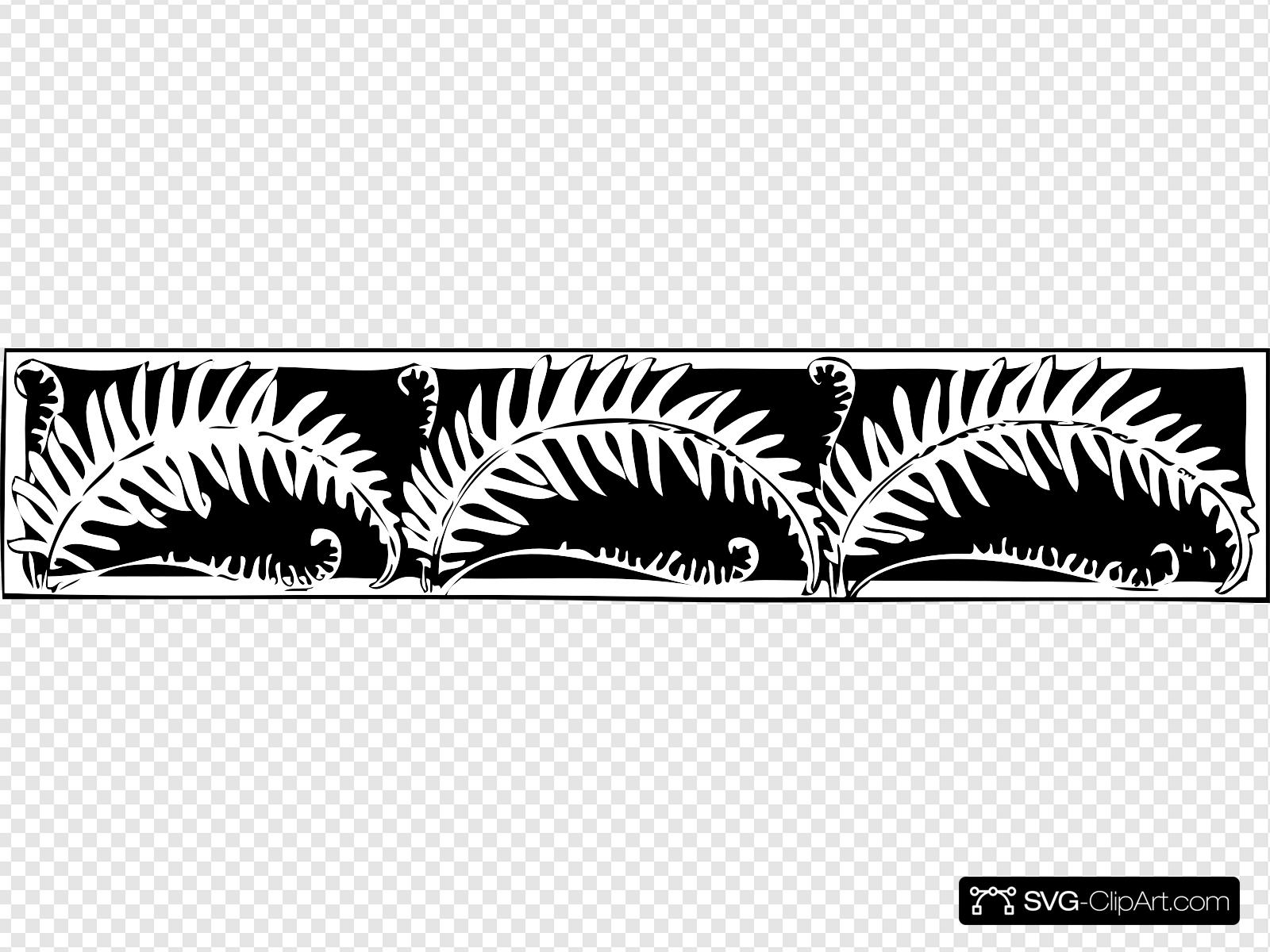 Fern Border Clip art, Icon and SVG.