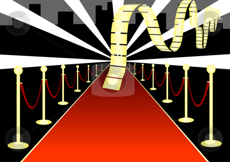 Red Carpet Invitations Clipart.
