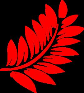 Red Fern Leaf Clip Art at Clker.com.