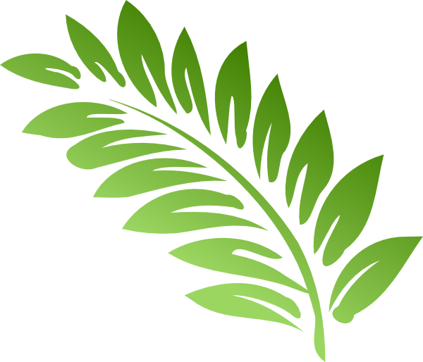 Red Fern Leaf Clipart.