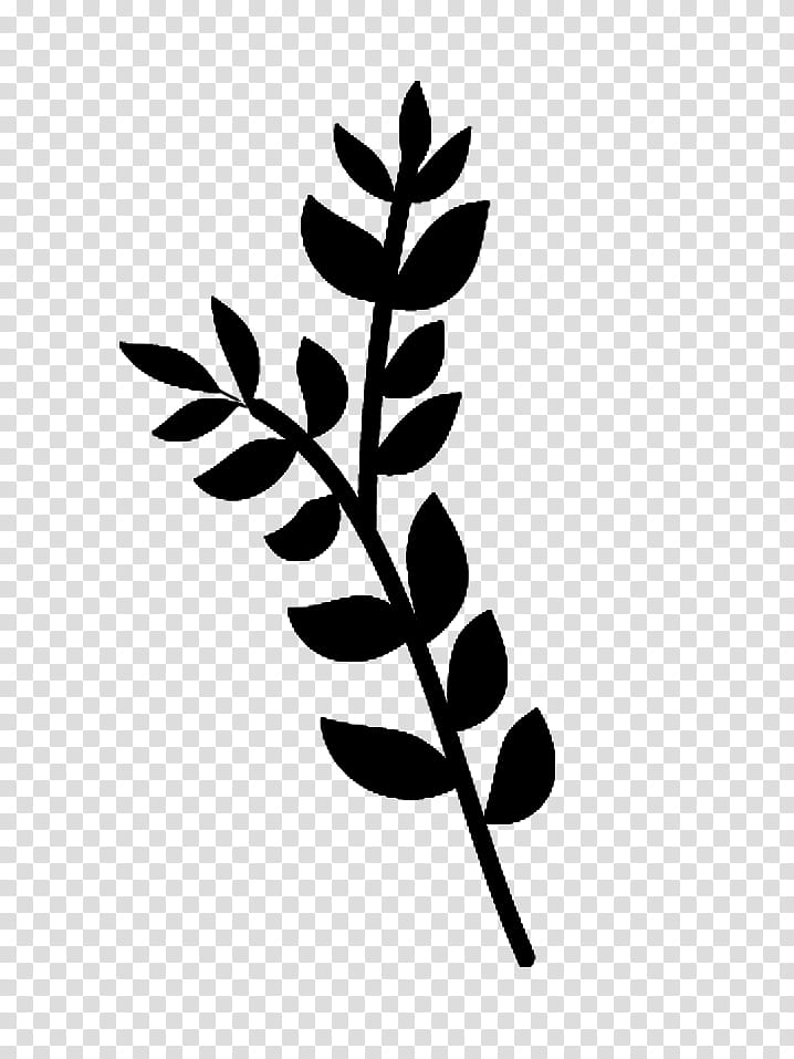 Trees and Twigs Brushes, silhouette of fern illustration.
