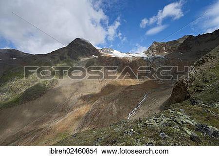 """Stock Photo of """"Mountains Oetztaler Urkund, Wildspitze, Rofenkar."""