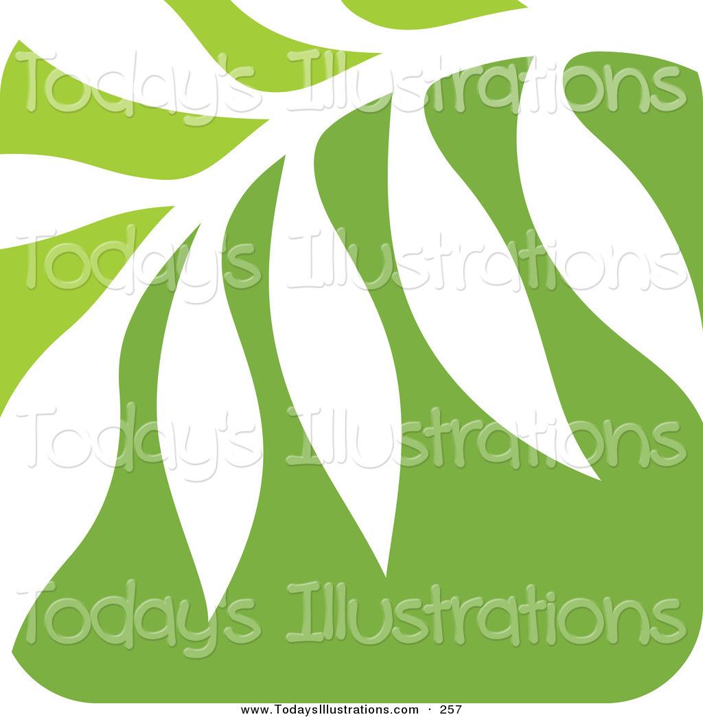 Nature Fern Leaf Logo Icon Layered Green Leaf Logo Icon Over Solid.
