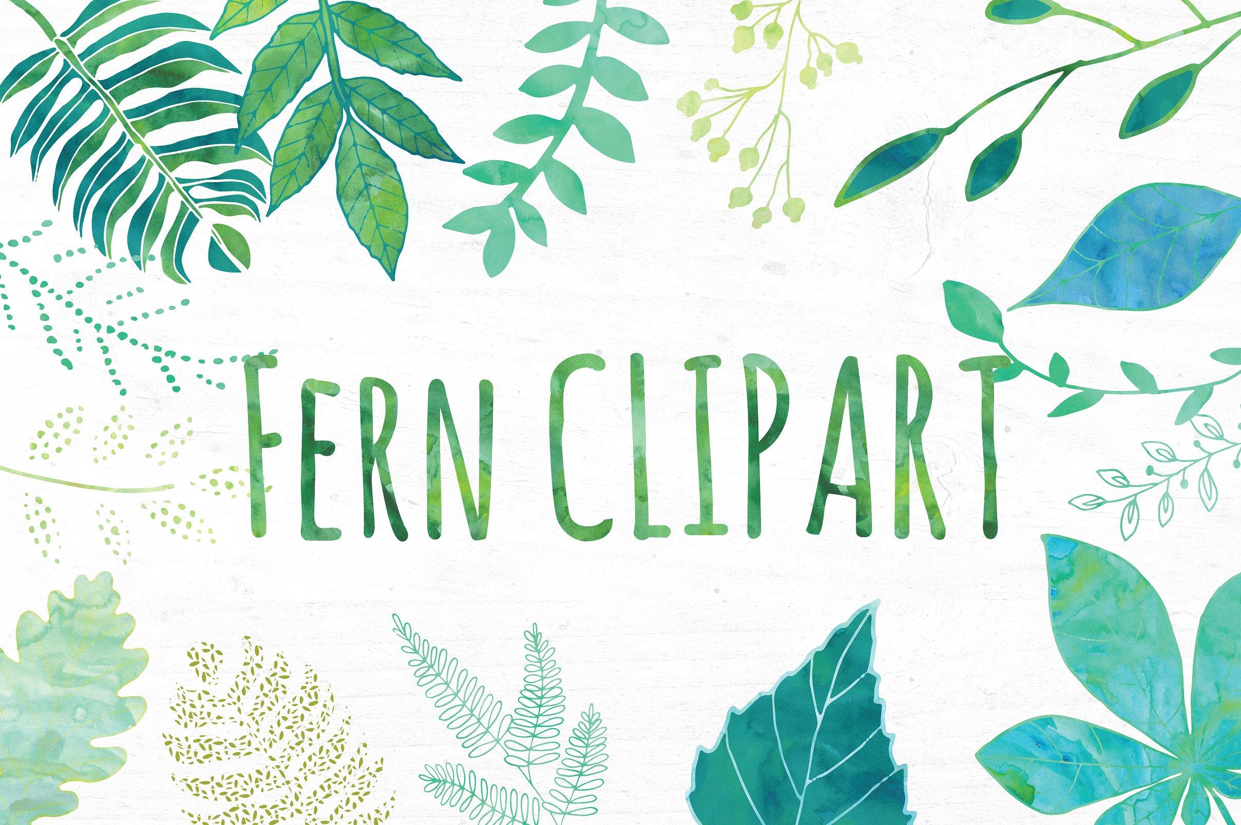 Watercolor Green Leaf Clip Art ~ Illustrations on Creative Market.