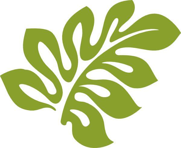 Hawaiian leaves clip art.