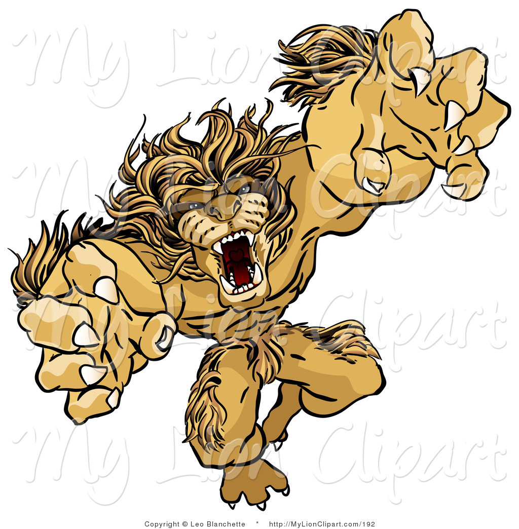 Royalty Free Stock Lion Designs of Ferocious.