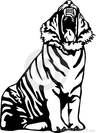 Ferocious Tiger Clipart.