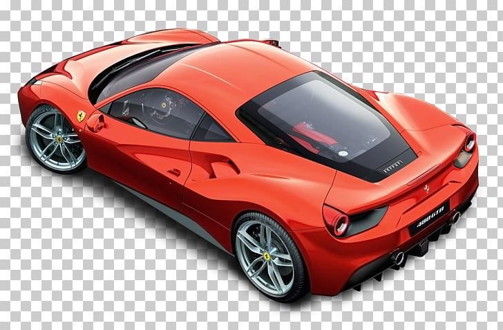 Ferrari 488 GTB Car Ferrari 458, Red Ferrari Top Car PNG.
