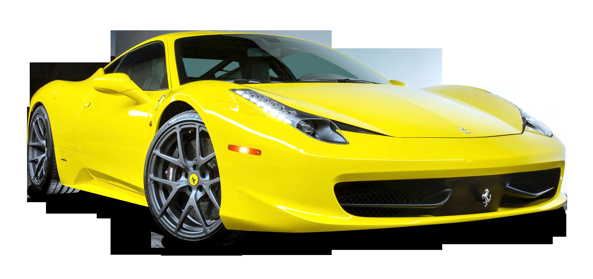 Ferrari 458 Italia Car PNG Image.