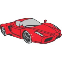 Ferrari enzo clipart.