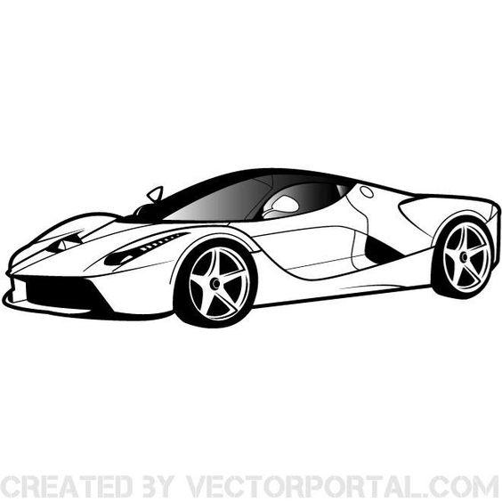 Luxury car vector clip art..