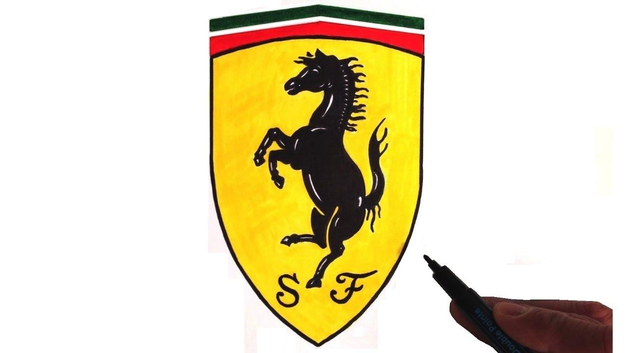 How to Draw the Ferrari Logo.