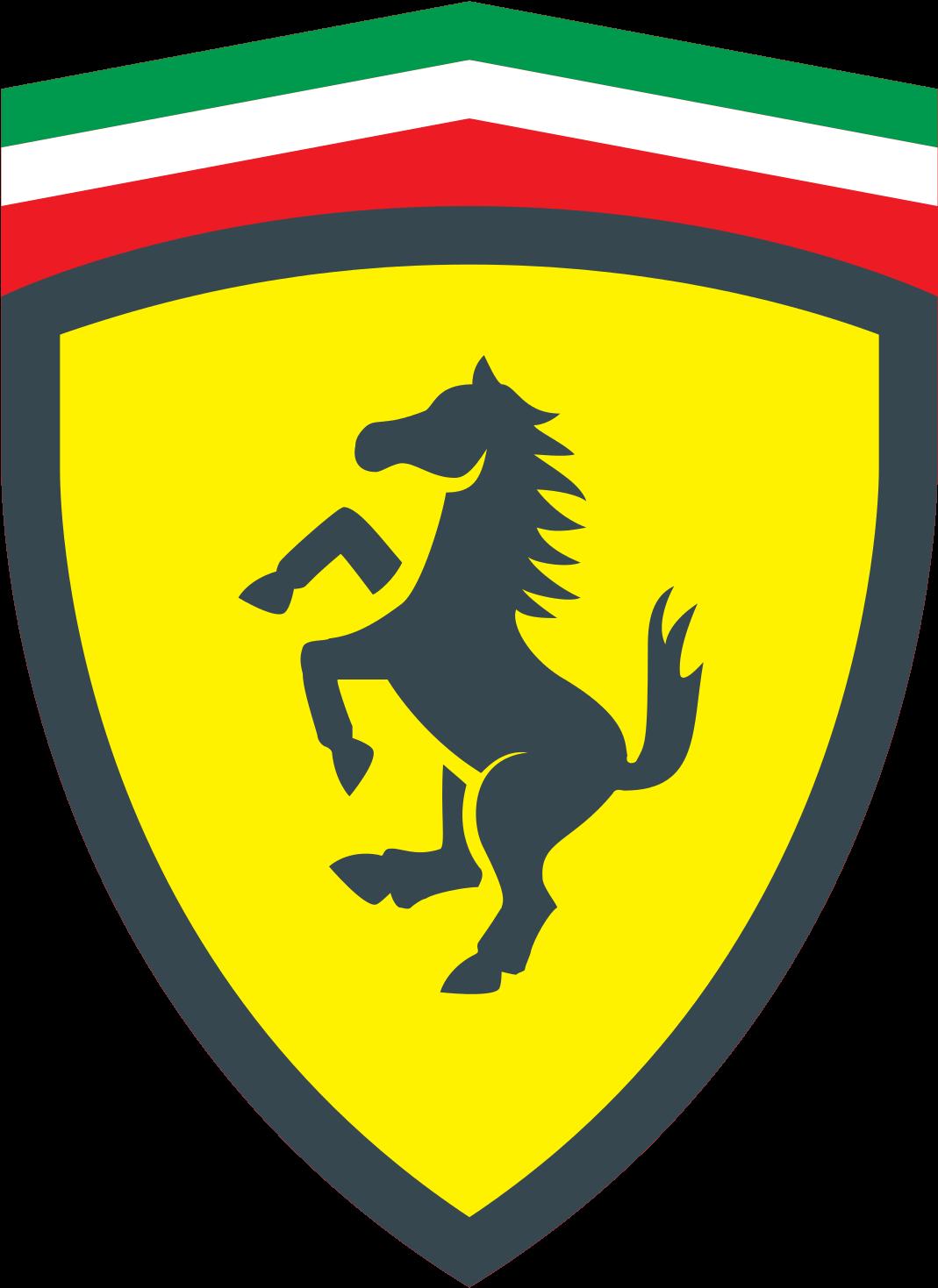 HD Ferrari Clipart Logo Pencil And In Color.