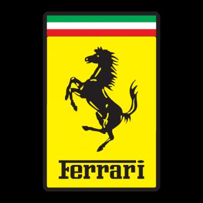 Ferrari logo vector.