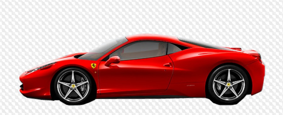 Ferrari PNG: Logo and cars with transparent background.