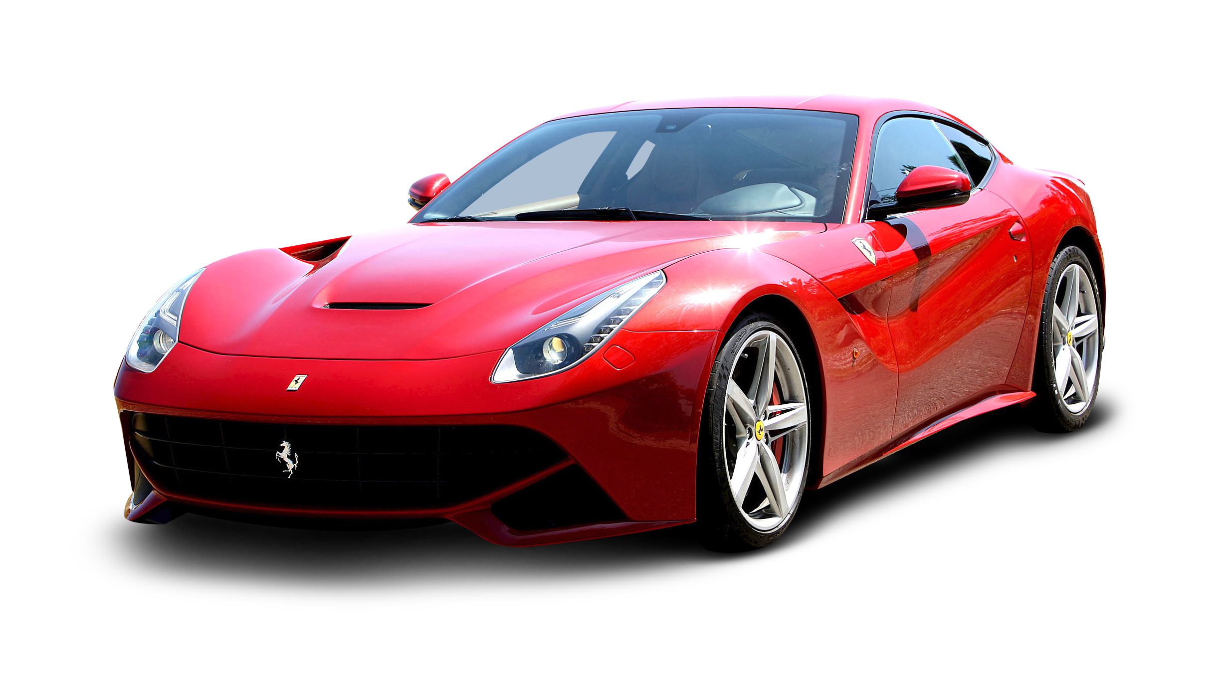 Red Ferrari F12 Berlinetta Car PNG Image.