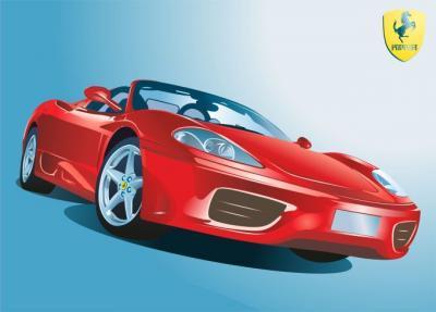 Ferrari sport car clipart.