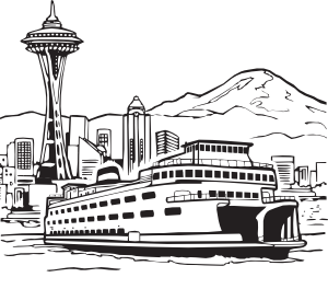 Space Needle And Ferry Clip Art at Clker.com.