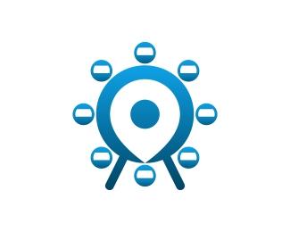 Ferris Wheel Location Logo Designed by opandri.