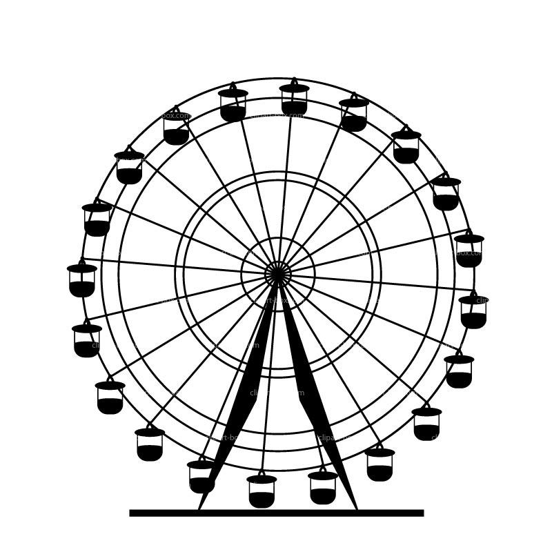 Ferris Wheel Clipart Black And White Ferris Wheel.