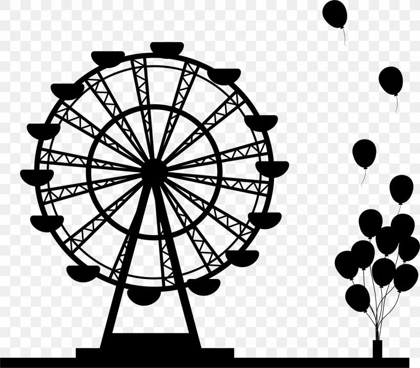 Ferris Wheel Silhouette Drawing, PNG, 2000x1758px, Ferris.