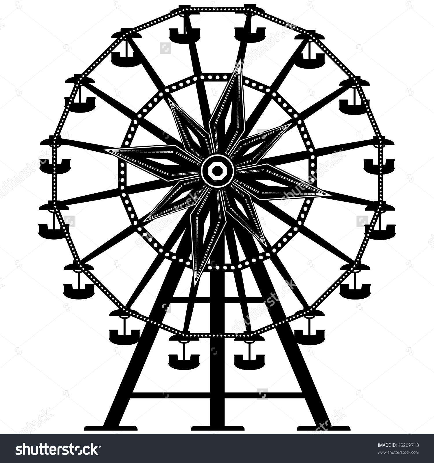 Free Ferris Wheel Silhouette Vector, Download Free Clip Art.