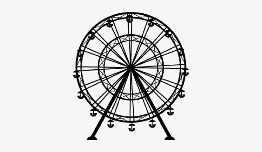 Transparent Background Ferris Wheel Clipart Black And , Free.