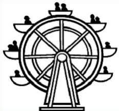 Image result for ferris wheel black and white clipart.