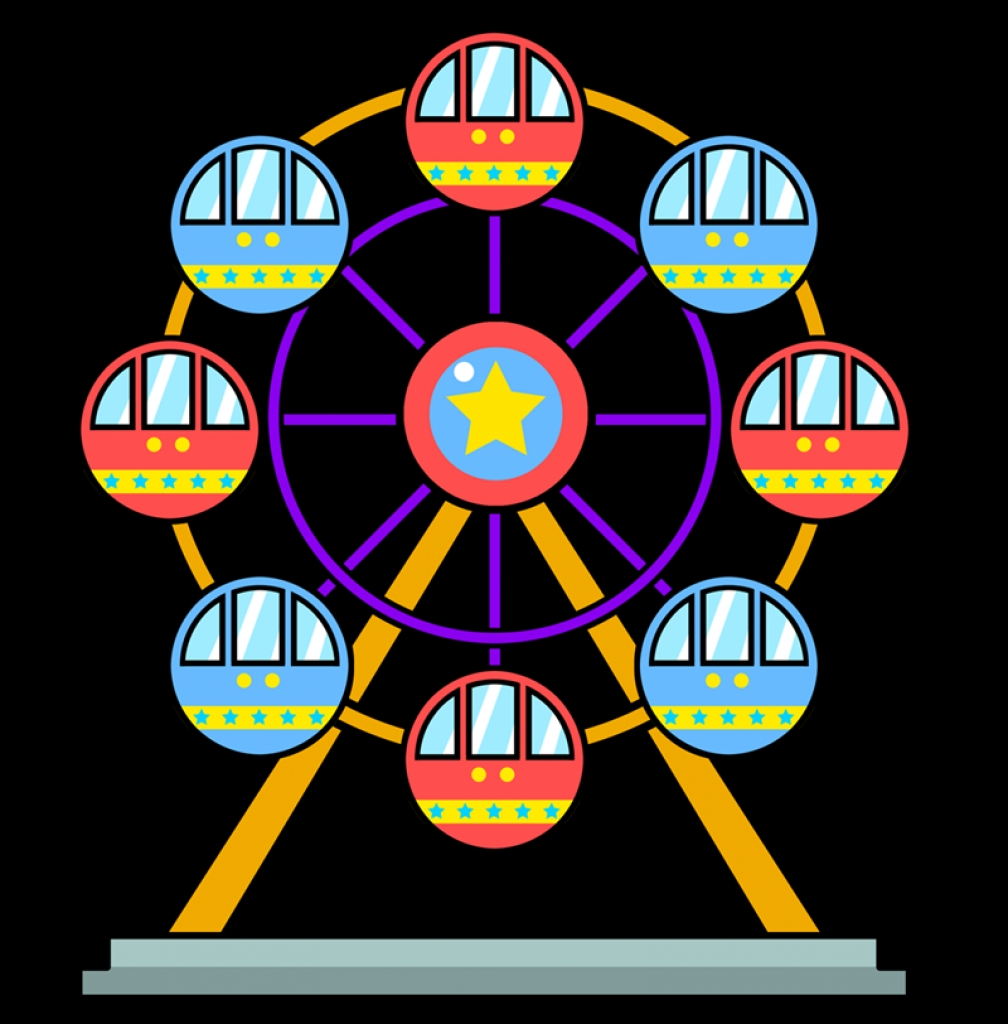 free to use amp public domain ferris wheel clip art High Quality.
