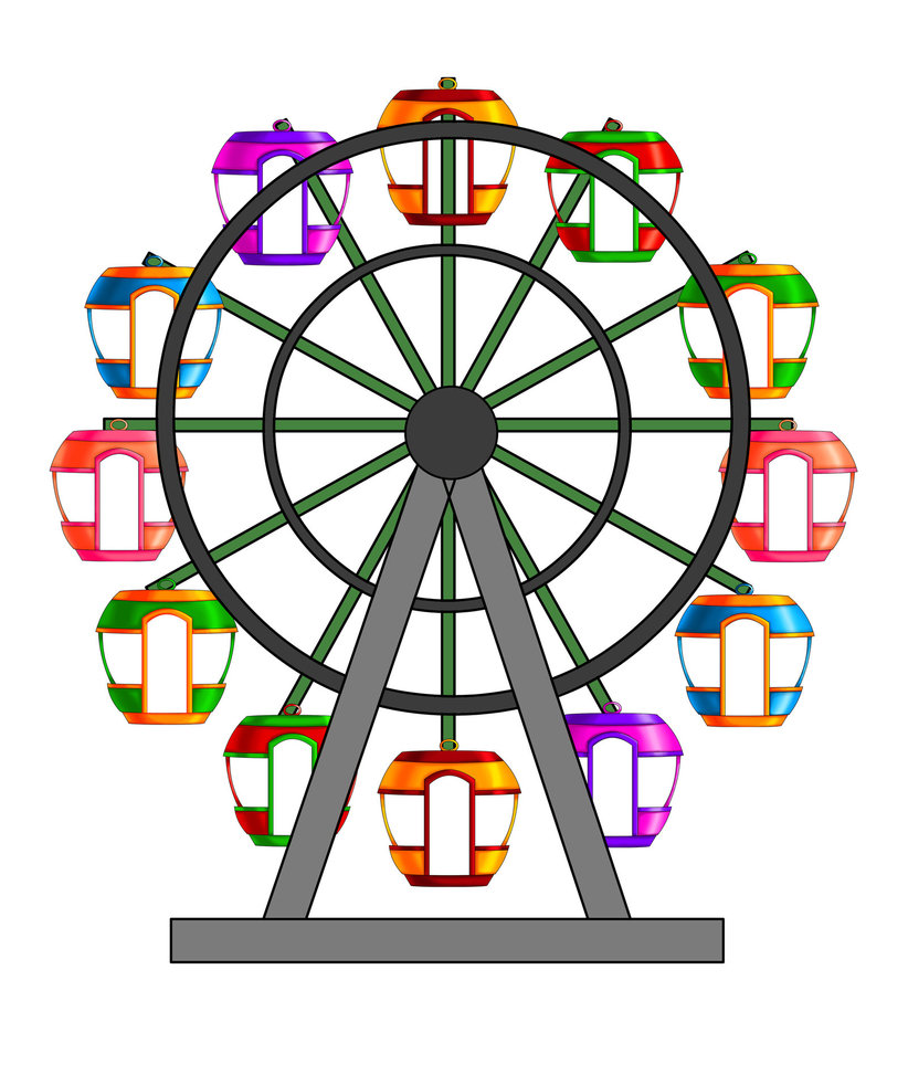 Free Ferris Wheel Clipart Pictures.