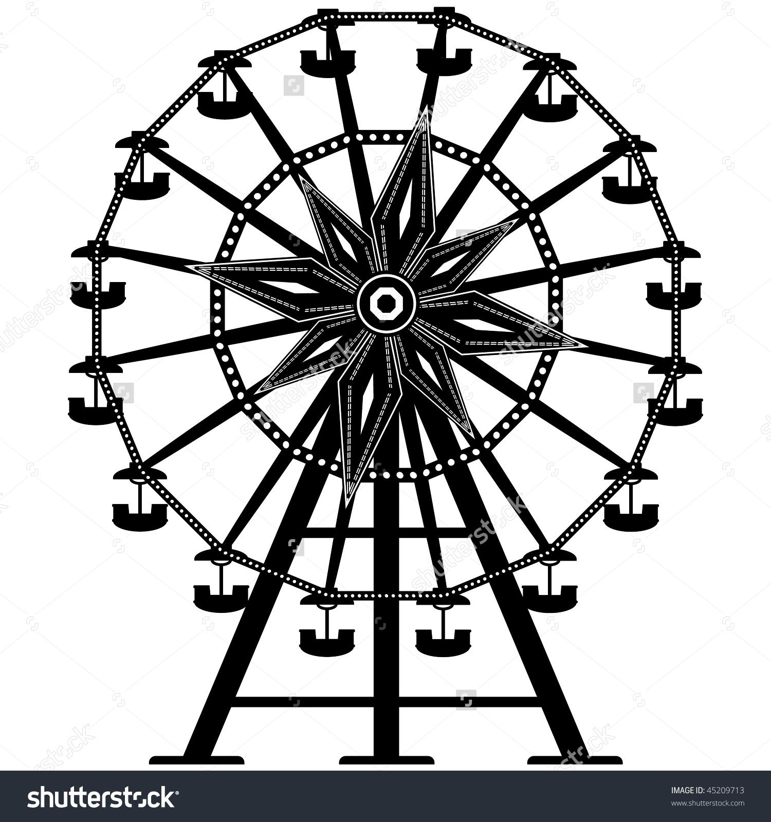 Vintage ferris wheel clipart.