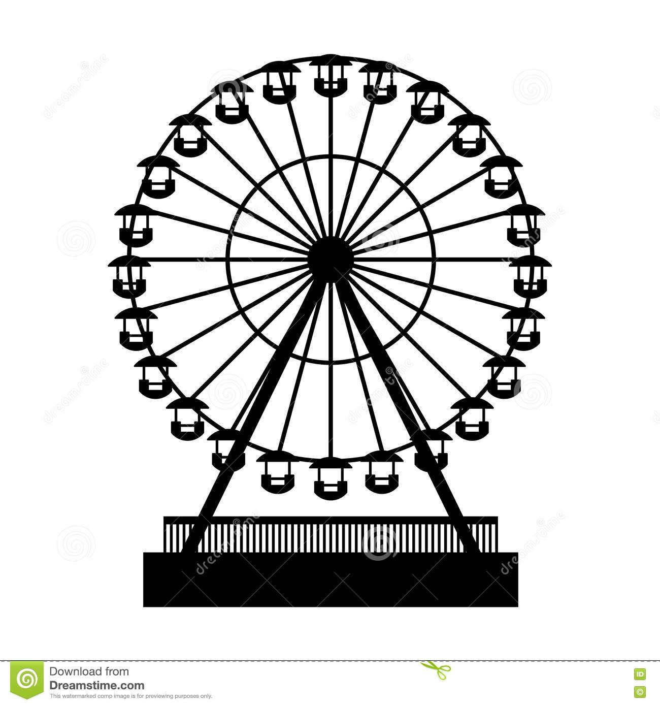 Ferris Wheel Vector Clipart.
