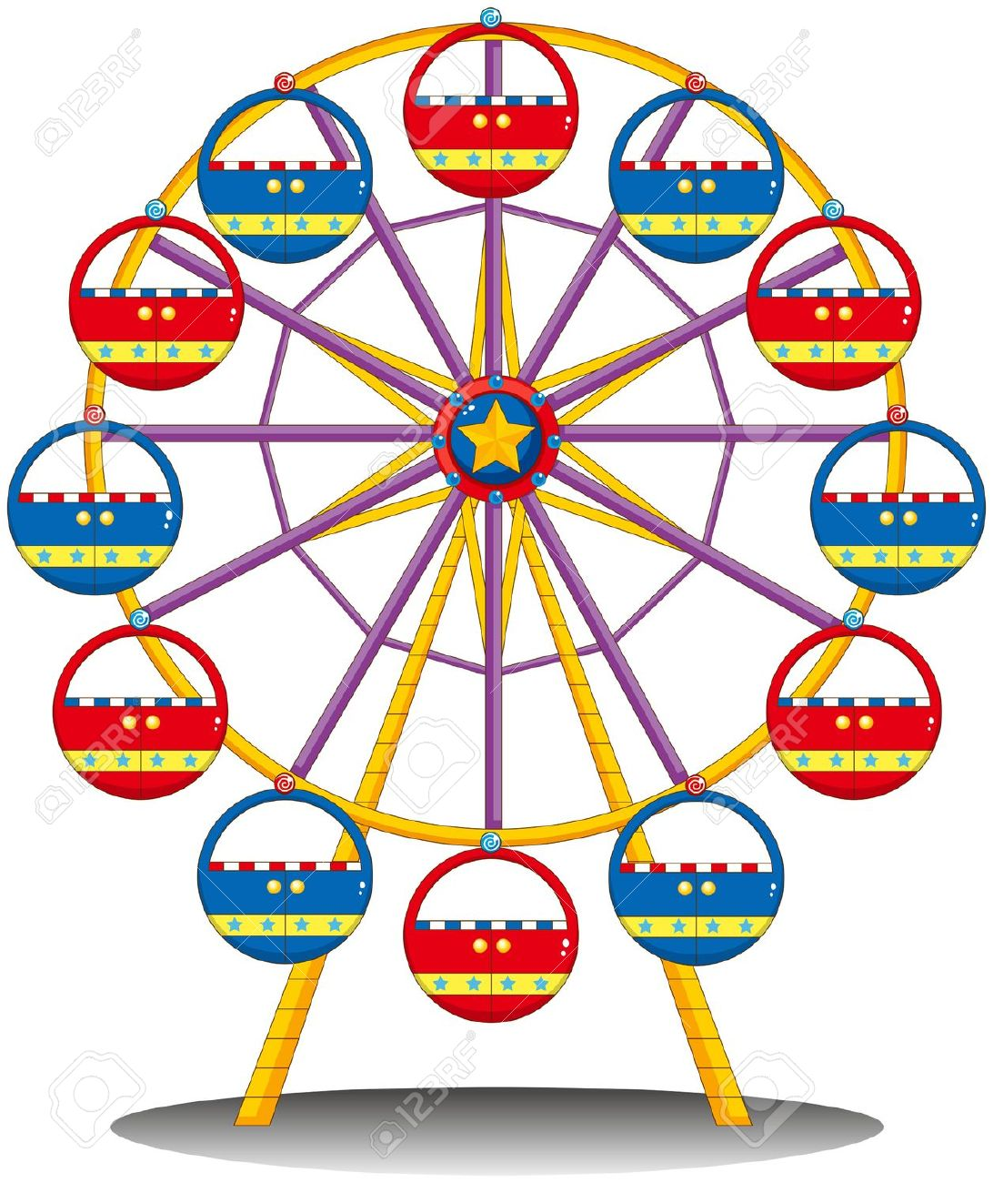 4,236 Ferris Wheel Stock Vector Illustration And Royalty Free.