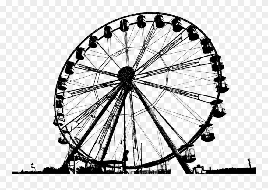 Ferris Wheel Amusement Park Silhouette Amusement.
