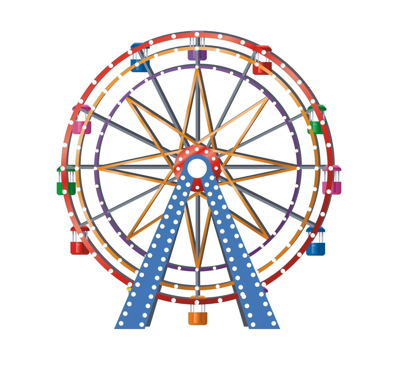 Ferris wheel Car Clip art.
